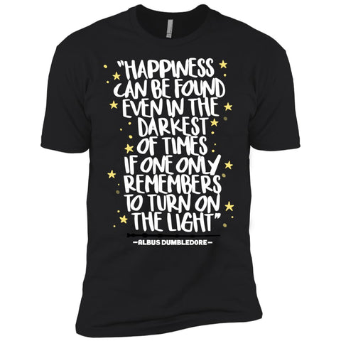 Harry Potter Happiness Can Be Found T Shirt Mens Short Sleeve T-Shirt Black / X-Small Mens Short Sleeve T-Shirt - PresentTees