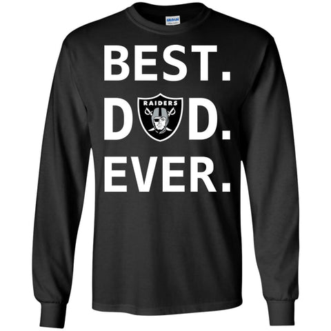 2345ac20 Oakland Raiders Dad Best Dad Ever Fathers Day Shirt Mens Long Sleeve Shirt  Black / S