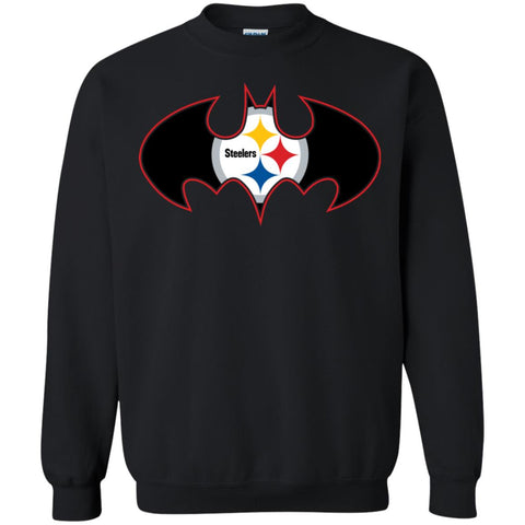 factory price 03eb7 e1bf7 We Are The Pittsburgh Steelers Batman Nfl Mashup Crewneck Pullover  Sweatshirt