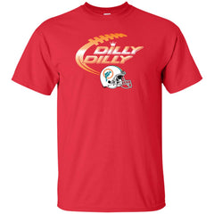 Miami Dolphins Mia Dilly Dilly Bud Light T Shirt Mens Cotton T-Shirt - PresentTees