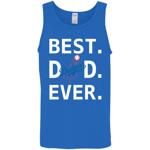 quality design 2c3ae 7c8ae Best Los Angeles Dodgers Dad Ever Baseball Fathers Day Shirt Mens Tank Top  Royal   S
