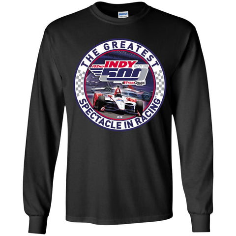 Indy 500 Shirt - The Greatest Spectaclein Racing Youth Long Sleeve Shirt Black / YS Youth Long Sleeve Shirt - PresentTees