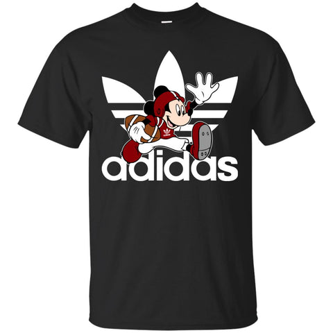Adidas American Football Disney Mickey Mouse T Shirt Black / S Mens Cotton T-Shirt - PresentTees