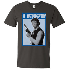Star Wars Han Solo Iconic Unscripted I Know Graphic Mens V-Neck T-Shirt Mens V-Neck T-Shirt - PresentTees