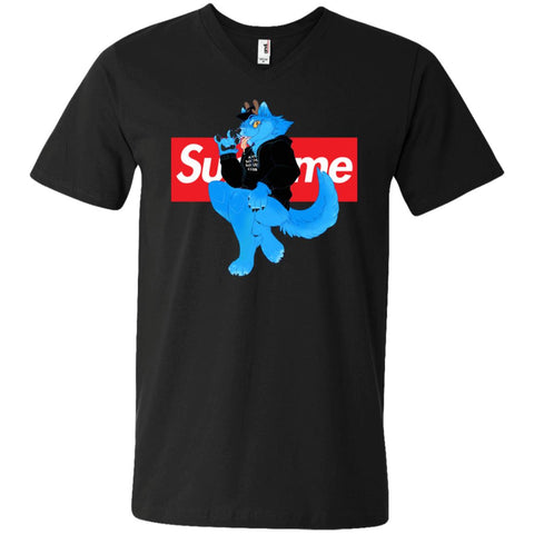 Supreme Woft T-shirt Men V-Neck T-Shirt Black / S Men V-Neck T-Shirt - PresentTees