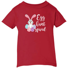 Kid's Egg Hunt Squad Easter Day Youth T Shirt Infant Short Sleeve T-Shirt - PresentTees