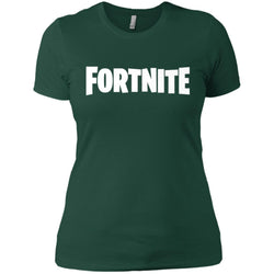 Fortnite White Logo T-shirt Women Cotton T-Shirt