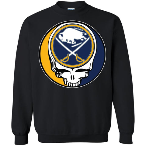 cfbeb81fa82 Buffalo Sabres Grateful Dead Steal Your Face Hockey Nhl Shirts Crewneck  Pullover Sweatshirt Black / S