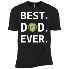 Best Green Bay Packers Dad Ever Fathers Day Shirt Mens Short Sleeve T-Shirt Mens Short Sleeve T-Shirt - PresentTees