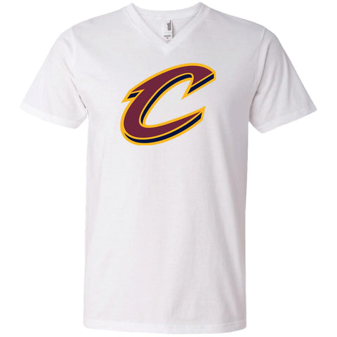 312eafa5ffb7 Cleveland Cavaliers Nba Basketball Mens V-Neck T-Shirt White   S Mens V