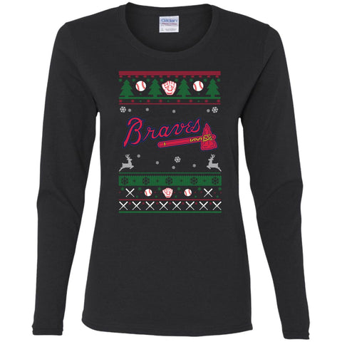 newest b3f3c 86ad2 Atlanta Braves Baseball Mlb Ugly Christmas Sweater