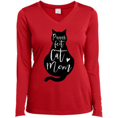 Puuur Fect Cat Mom Shirt Gift For Mothers Day And Birthday Ladies Long Sleeve V-Neck Ladies Long Sleeve V-Neck - PresentTees