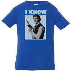 Star Wars Han Solo Iconic Unscripted I Know Graphic Infant Jersey T-Shirt Infant Jersey T-Shirt - PresentTees