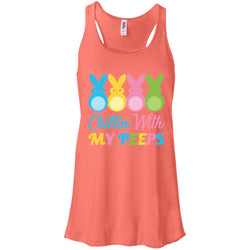 Bunny Easter Chillin With My Peeps Women Tank Top