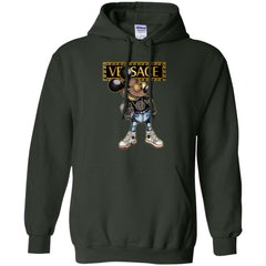 Versace Mickey Mouse Cartoon T-shirt Pullover Hoodie Sweatshirt Pullover Hoodie Sweatshirt - PresentTees