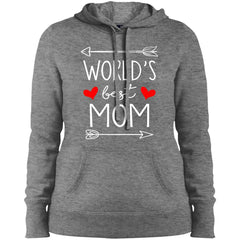 World's Best Mom Mothers Day Gift Ladies Pullover Hooded Sweatshirt Ladies Pullover Hooded Sweatshirt - PresentTees