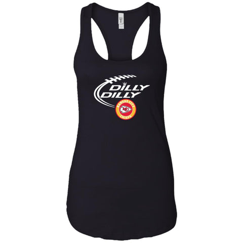 Dilly Dilly Kansas City Chiefs Shirt For Men And Women Black / X-Small Ladies Racerback Tank - PresentTees