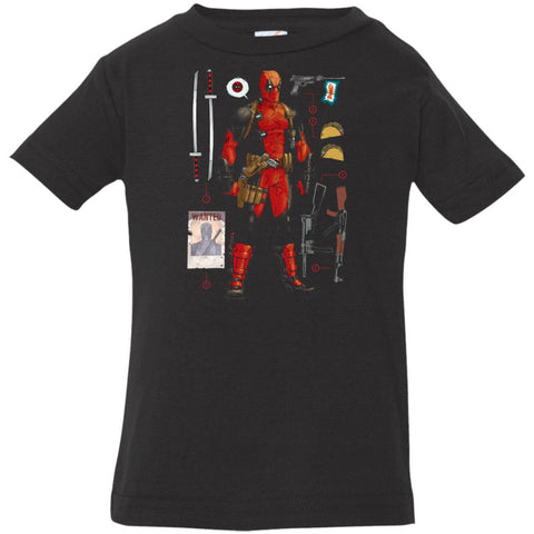 Marvel Deadpool Accessories Infant Jersey T-Shirt Black / 6 Months Infant Jersey T-Shirt - PresentTees