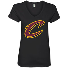 Cleveland Cavaliers Nba Basketball Womens V-Neck T-Shirt Womens V-Neck T-Shirt - PresentTees