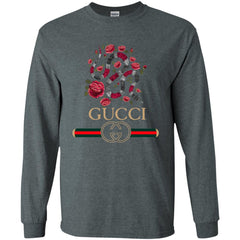 Gucci Logo T-shirt Snake 2018 Men Long Sleeve Shirt Men Long Sleeve Shirt - PresentTees
