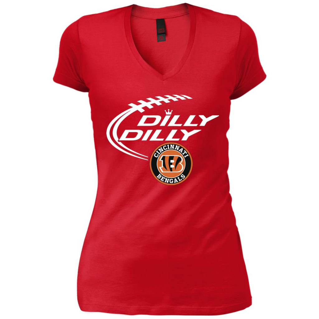 Dilly Dilly Cincinnati Bengal Nfl Shirt For Men Women Kid Womens Vintage  V-Neck T a4da8939e6
