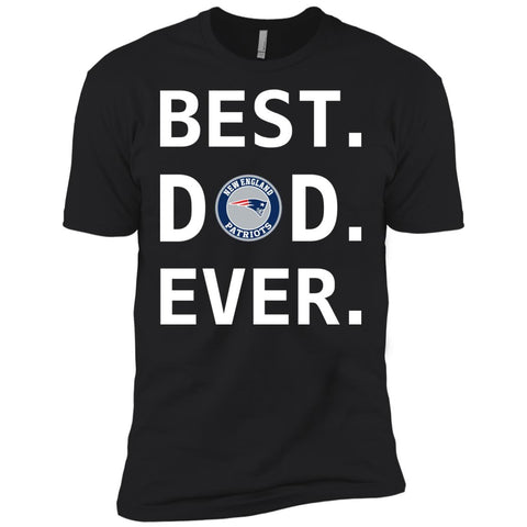 Best New England Patriots Dad Ever Fathers Day Shirt Mens Short Sleeve T-Shirt Black / X-Small Mens Short Sleeve T-Shirt - PresentTees