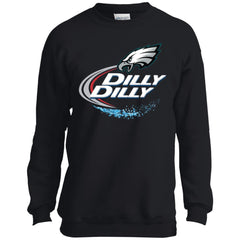 Philadelphia Eagles Dilly Dilly Football Gifts Youth Crewneck Sweatshirt Youth Crewneck Sweatshirt - PresentTees