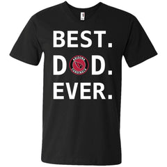 Best Arizona Cardinals Dad Ever Fathers Day Shirt Mens V-Neck T-Shirt Mens V-Neck T-Shirt - PresentTees