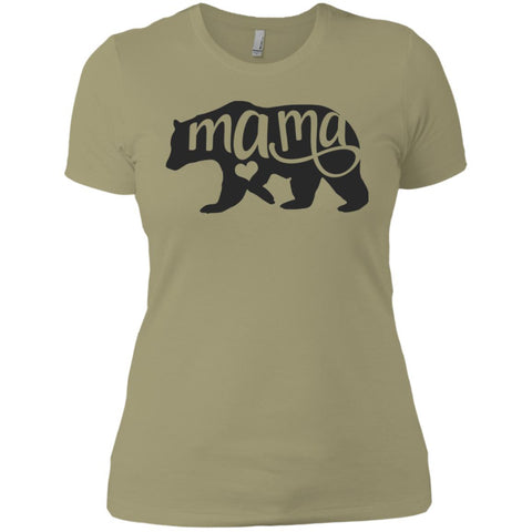 Mama Bear Shirt - Mothers Day Or Birthday  Gift For Mommy And Grandma Light Olive Ladies Boyfriend T-Shirt Light Olive / X-Small Ladies Boyfriend T-Shirt - PresentTees
