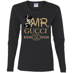 Gucci Couple Disney Mickey Valentine's Day 2018 T-shirt Women Long Sleeve Shirt