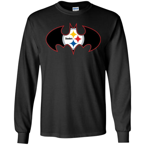 4a4cbfc71 We Are The Pittsburgh Steelers Batman Nfl Mashup Men Long Sleeve Shirt  Black / S Men