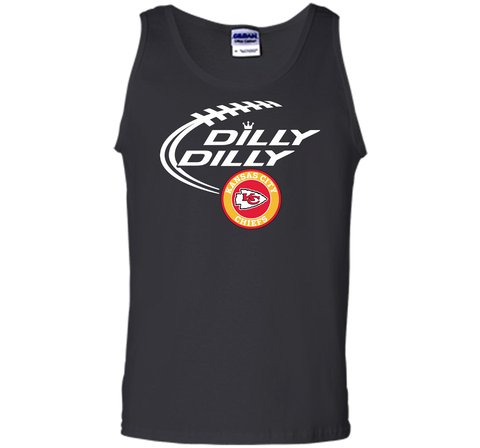 DILLY DILLY Kansas city Chiefs shirt Black / Small Tank Top - PresentTees