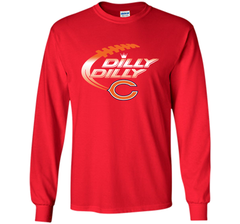 Chicago Bears Dilly Dilly T-Shirt Bud Light Christmas NFL Football Gift for Fans LS Ultra Cotton TShirt - PresentTees