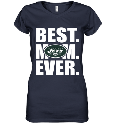 Best New York Jets Mom Ever NFL Team Mother's Day Gift Women's V-Neck T-Shirt
