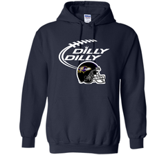 Dilly Dilly Baltimore Ravens Logo American Football Team Bud Light Christmas T-Shirt Pullover Hoodie 8 oz - PresentTees