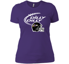 Dilly Dilly Baltimore Ravens Logo American Football Team Bud Light Christmas T-Shirt Next Level Ladies Boyfriend Tee - PresentTees