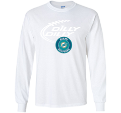 DILLY DILLY Miami dolphins shirt LS Ultra Cotton TShirt - PresentTees