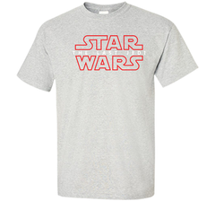 Star Wars Last Jedi Red Outline Logo Graphic Custom Ultra Cotton Tshirt - PresentTees