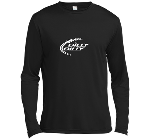 Funny Bud Light DILLY DILLY Shirt Black / Small LS Moisture Absorbing Shirt - PresentTees