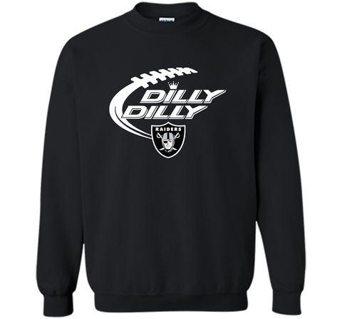Oakland Raiders Dilly Dilly T Shirt OAK NFL Football Gift for Fans Black / Small Crewneck Pullover Sweatshirt 8 oz - PresentTees