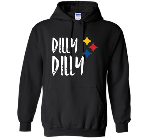 Dilly Dilly Pit of Misery Beer Roethlisberger Beer Football Pittsburgh Steelers Sweater Black / Small Pullover Hoodie 8 oz - PresentTees