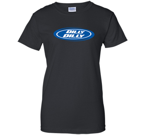 Bud Light Dilly Dilly Oval Blue Shirt Black / Small Ladies Custom - PresentTees
