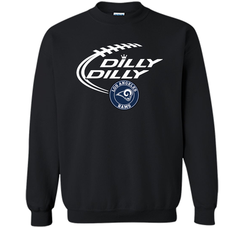 DILLY DILLY  Los Angeles Rams shirt Black / Small Crewneck Pullover Sweatshirt 8 oz - PresentTees