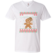 GINGERBREAD funny christmas shirt  Men Printed V-Neck Tee - PresentTees