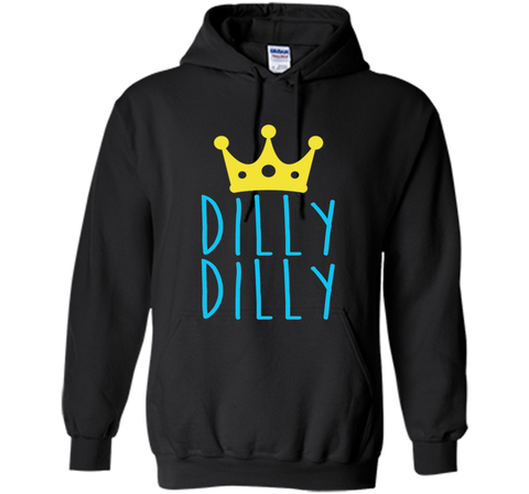 Bud Light Dilly Dilly Crown T-Shirt Black / Small Pullover Hoodie 8 oz - PresentTees