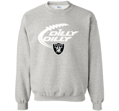 Oakland Raiders Dilly Dilly T Shirt OAK NFL Football Gift for Fans Crewneck Pullover Sweatshirt 8 oz - PresentTees