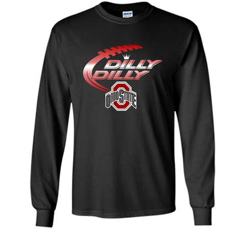 Dilly Dilly Ohio State Buckeyes T-Shirt Ohio State Dilly Dilly Bud Light Shirts Black / Small LS Ultra Cotton TShirt - PresentTees