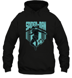 Marvel Spider Man Far From Home Stealth Suit Silhouette Hooded Sweatshirt
