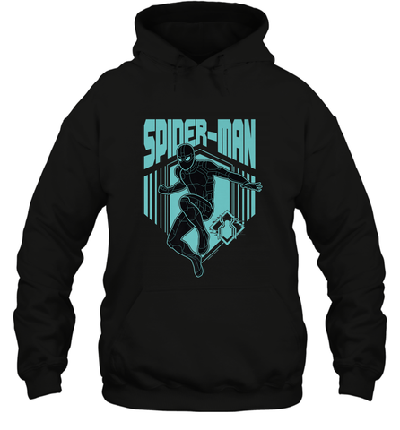 Marvel Spider Man Far From Home Stealth Suit Silhouette Hooded Sweatshirt Hooded Sweatshirt / Black / S Hooded Sweatshirt - PresentTees