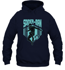 Marvel Spider Man Far From Home Stealth Suit Silhouette Hooded Sweatshirt Hooded Sweatshirt - PresentTees